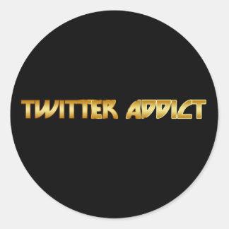 Twitter-Süchtiger Runde Sticker