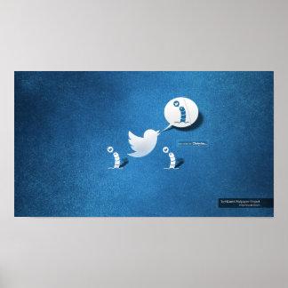 Twitter tweeten ein Wurm Poster