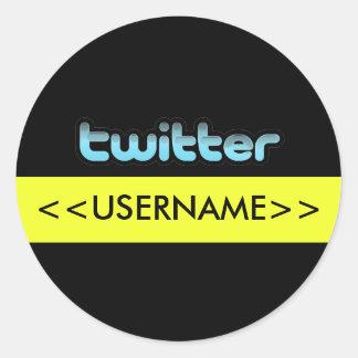 Twitter tweeten Twit Aufkleber