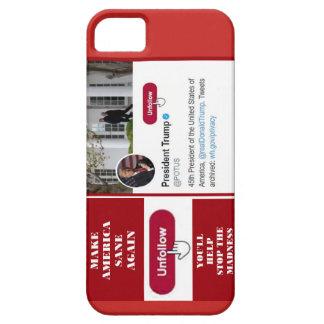 Twitter Unfollow Trumpf-Telefonkasten Schutzhülle Fürs iPhone 5