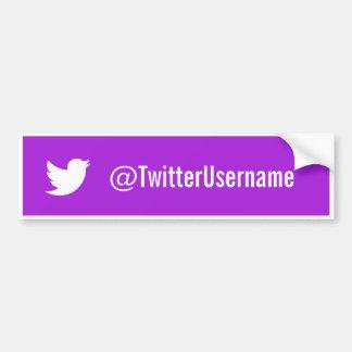 Twitter-username-Autoaufkleber lila Autoaufkleber