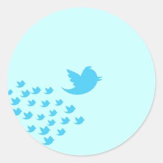Twitter-Vogel Runder Aufkleber