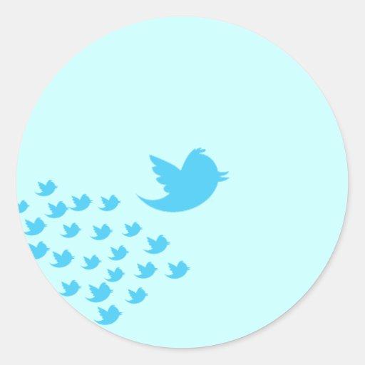 Twitter-Vogel Runder Sticker
