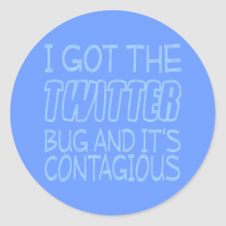 Twitter-Wanze Runder Aufkleber