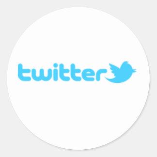 Twitteraufkleber Runder Aufkleber