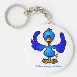 Twittering Blau Vogel Schlüsselanhänger