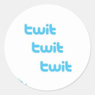 TwitTwittwit-Twitter! Runder Sticker
