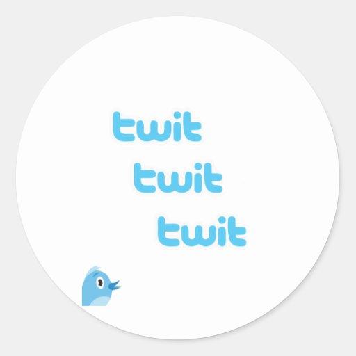 TwitTwittwit-Twitter! Runde Sticker