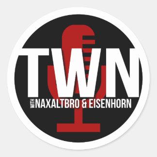 TWN Mikrofon-Abzeichen Runder Aufkleber