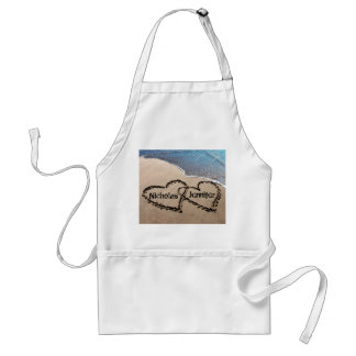 Two Hearts In The Sand Apron