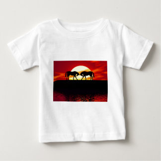 Two horses in the sun baby t-shirt
