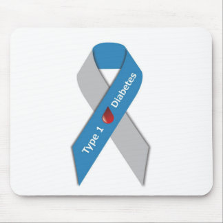 Typ- 1diabetes-Bewusstseins-Band Mousepads