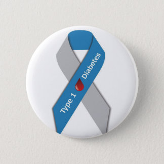 Typ- 1diabetes-Bewusstseins-Band Runder Button 5,7 Cm