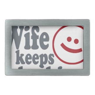 Typ Ihre Ehefrau behält mich heraus überprüfen Rechteckige Gürtelschnalle