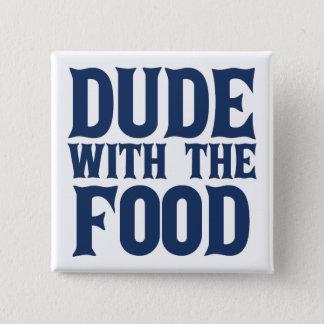 Typ mit dem Nahrungsmittelblau Quadratischer Button 5,1 Cm