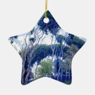 Typ-Rose - Laguna-Eukalyptus - Kunst-Meisterwerk Keramik Ornament