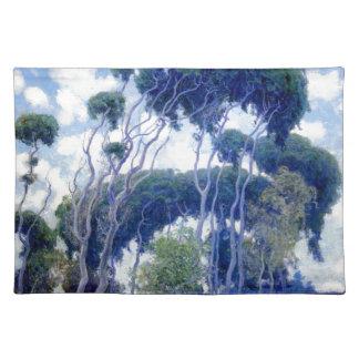 Typ-Rose - Laguna-Eukalyptus - Kunst-Meisterwerk Tischset
