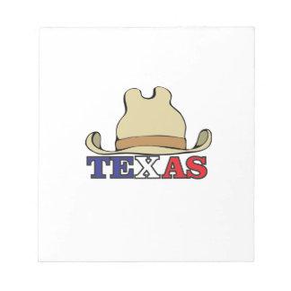 Typ Texas Notizblock