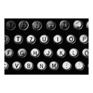 Typewriter keys poster