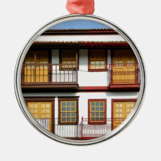 Typische Häuser von Guimarães Silbernes Ornament