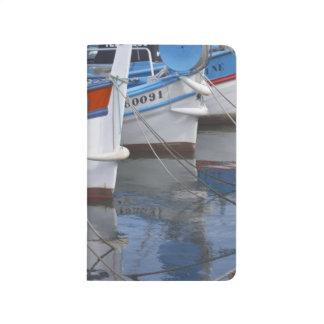Typische Provencal Fischerboote gemalt in 2 Taschennotizbuch
