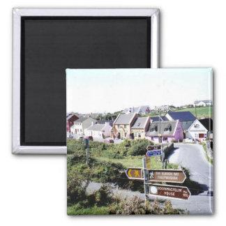 Typisches irisches Dorf Quadratischer Magnet