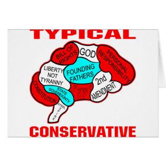 Typisches konservatives Gehirn Karte
