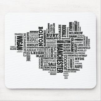 Typkarte von größerem Manchester Mousepad