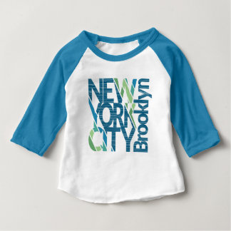Typografie Brooklyns New York Baby T-shirt