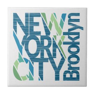 Typografie Brooklyns New York Kleine Quadratische Fliese