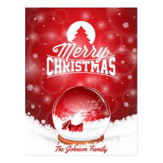 Typografie der frohen Weihnachten und des guten Postkarte