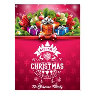 Typografie der frohen Weihnachten und des guten Postkarten