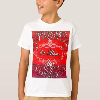 Typografie-der Mutter der Mamma-#1 der rote Tag T-Shirt