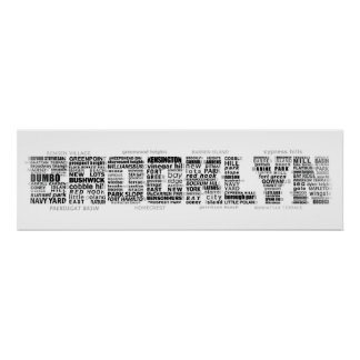 Typografie-Entwurf Brooklyns NY Poster