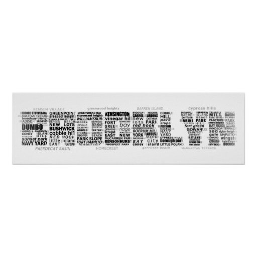 Typografie-Entwurf Brooklyns NY Plakat