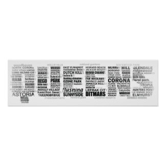 Typografie-Foto der Königin-New York Plakate