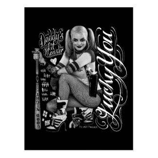 Typografie-Foto der Selbstmord-Gruppe-| Harley Postkarte