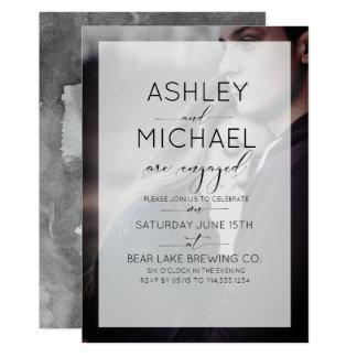 Typografie-Foto-Verlobungs-Party Einladung