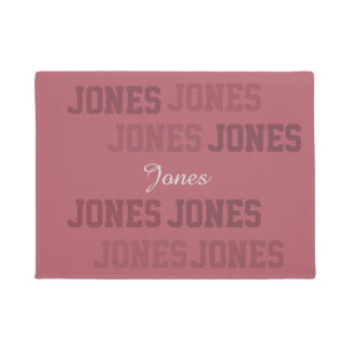 Typografie kurze Lastname rosa Collage Türmatte