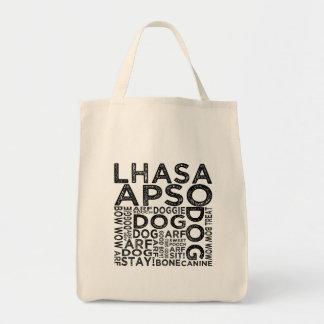 Typografie Lhasas Apso Tragetasche