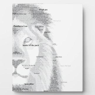 Typografie-Löwe Fotoplatte