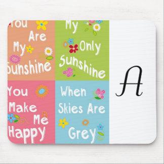 Typografie-motivierend Phrase - Collage Mousepads
