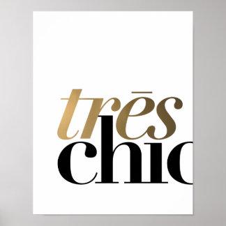 "TYPOGRAFIE-PLAKAT TRES CHIC-11x14"" | Poster"