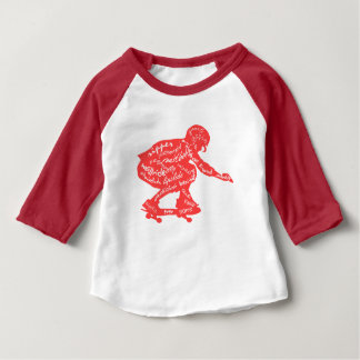 Typografie - Skateboarding Baby-Kleidung Baby T-shirt