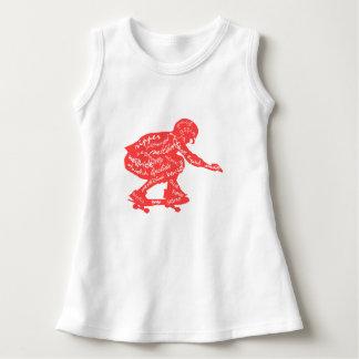 Typografie - Skateboarding Baby-Kleidung Kleid