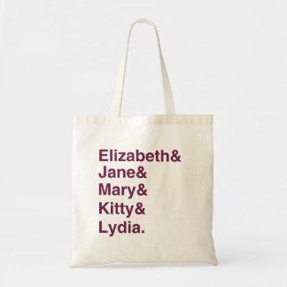 Typografie-Taschen-Tasche Stolz-u. Vorurteil-Janes Budget Stoffbeutel