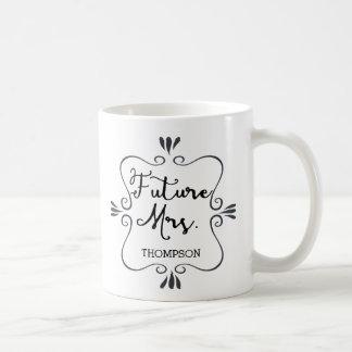 Typografie-Zukunft-Frau Kaffeetasse