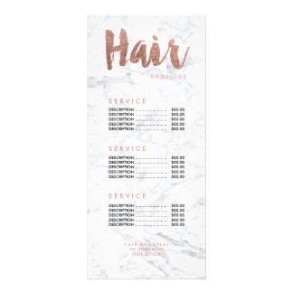 Typografiemarmor-Preisliste des Haares moderne 12,2 X 22,9 Cm Kartendruck