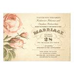 typografische Hochzeitseinladung der Vintagen rosa Personalisierte Einladungskarte