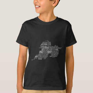 Typografische Karte von Co. Clare T-Shirt